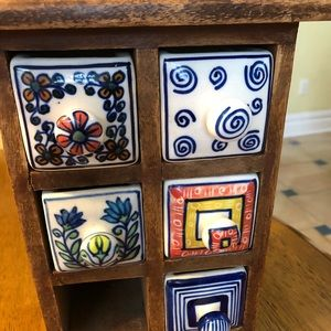 Small table top drawers.